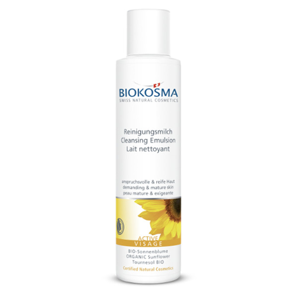 biokosma active visage reinigungsmilch 150 ml swiss made